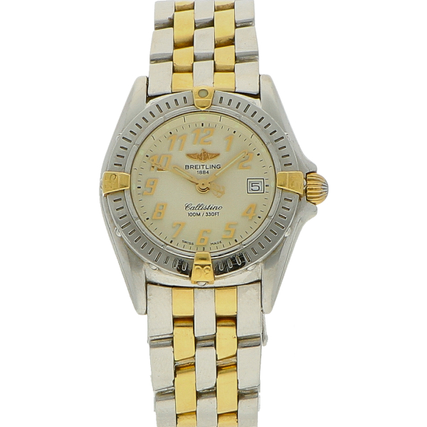 Breitling Callistino goud/staal (D+P 1999)