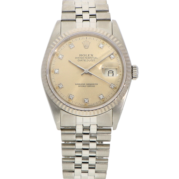 "Rolex DateJust ""Diamond Index"" ref. 16234"