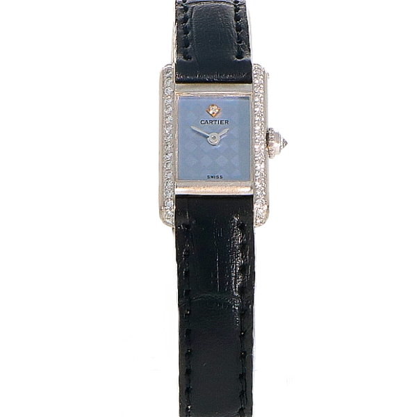 Cartier Tank Mini 18K witgoud & diamant