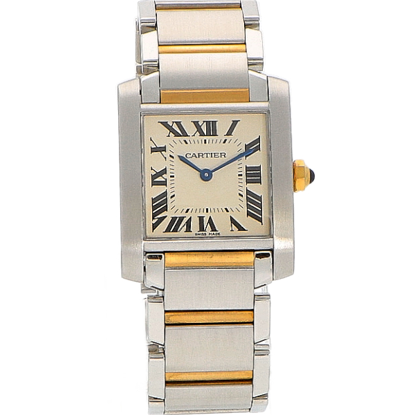 Cartier Tank Francaise Staal/Goud